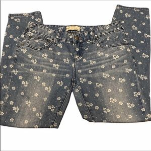 Free people floral jeans 25